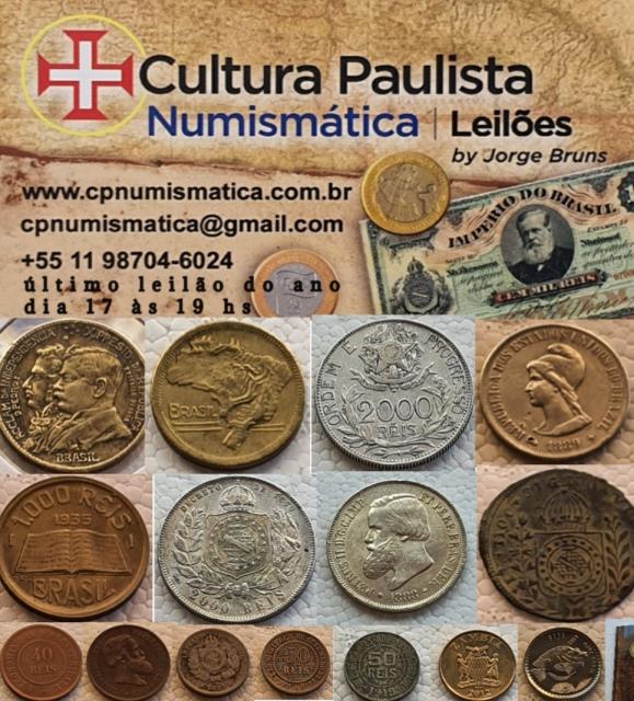 LEILÃO CULTURA PAULISTA DE NUMISMÁTICA
