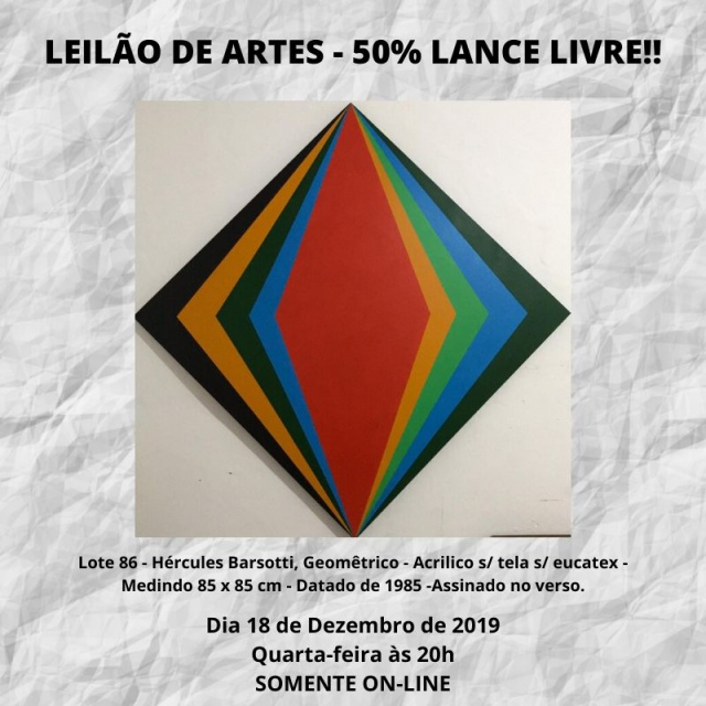 LEILÃO DE ARTES - 50% LANCE LIVRE!!