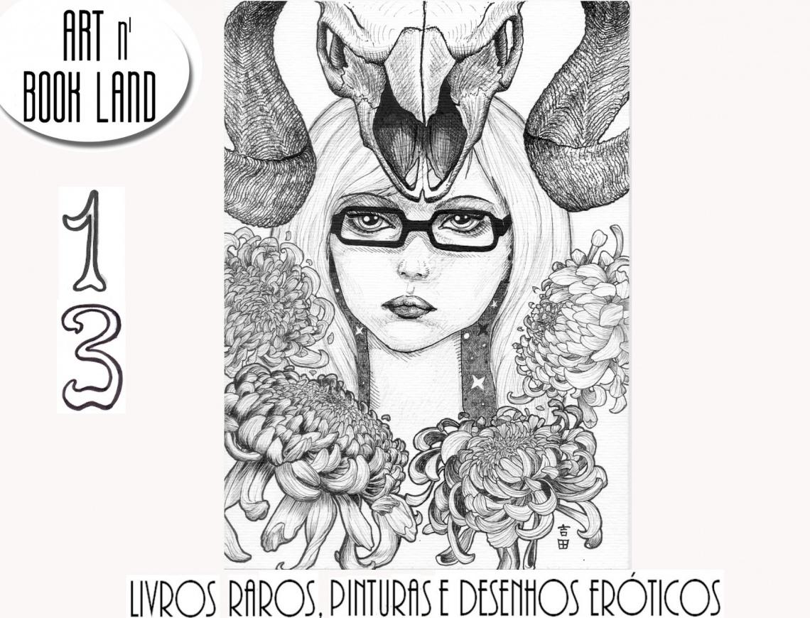 Art n Book Land 13 - leilão residencial - LIVROS RAROS, livros de arte, pinturas e desenhos eróticos