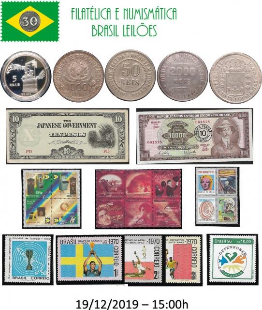 XLIX LEILÃO DE COLECIONISMO FILATÉLICA E NUMISMÁTICA BRASIL