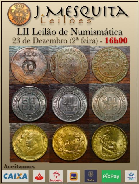 LII Leilão J.Mesquita - Especial de Numismática
