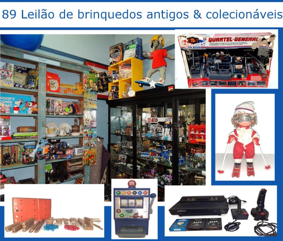 89º LEILÃO DE BRINQUEDOS ANTIGOS E COLECIONÁVEIS
