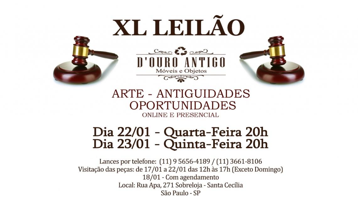 XLº LEILÃO DE ARTE - ANTIGUIDADES - OPORTUNIDADES