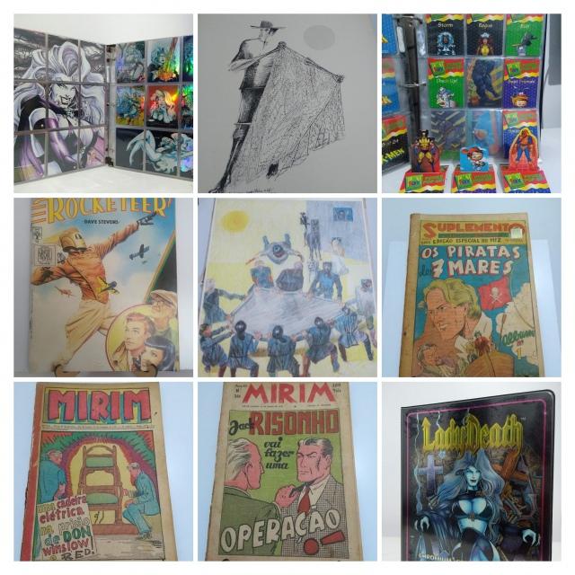 Leilão de gibis antigos, revistas e itens colecionáveis