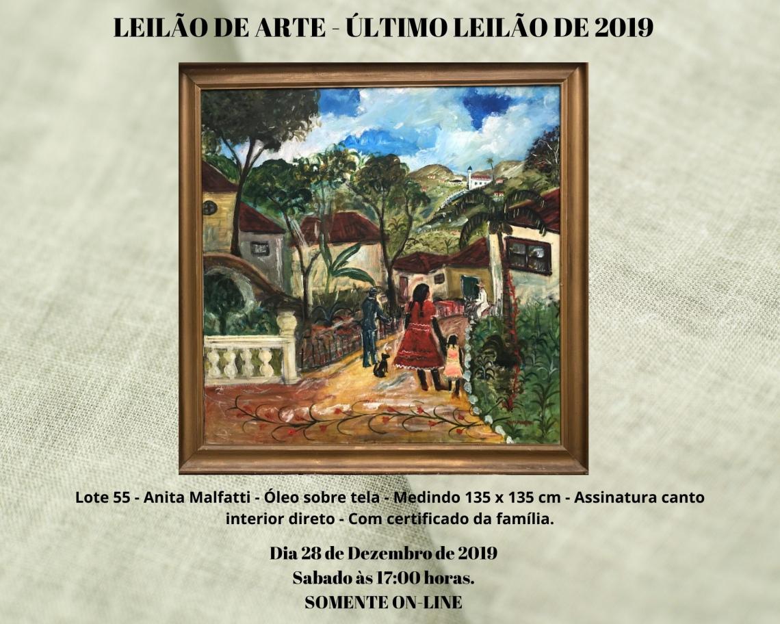 LEILÃO DE ARTE - ÚLTIMO LEILÃO DE 2019