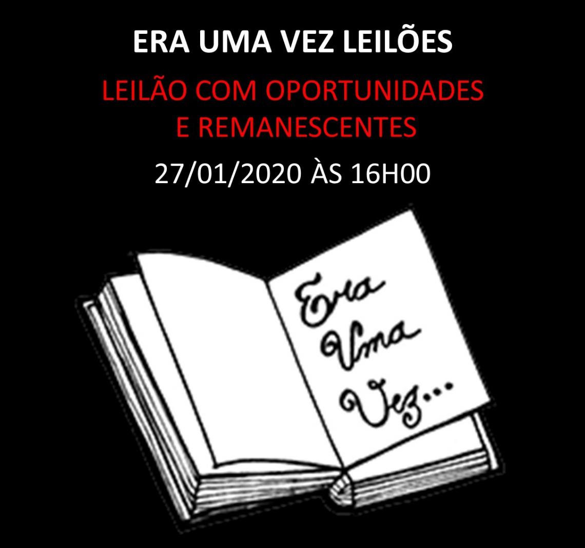 LEILÃO DE OPORTUNIDADES COM REMANESCENTES - 27/01/2020 às 16h00