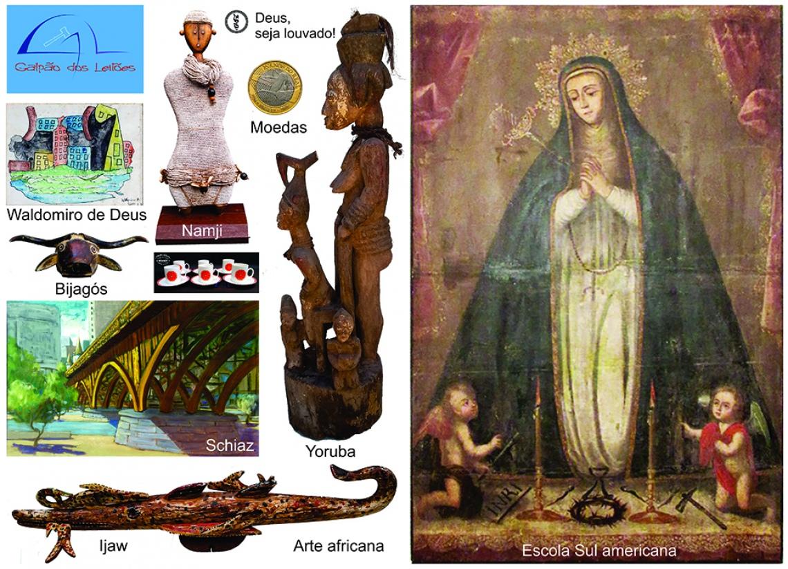 LEILÃO DE ARTE, CURIOSIDADES e DECORAÇÃO (destaque p/ Colecionismo, e Tribal Africana), 15 e 17/2/20