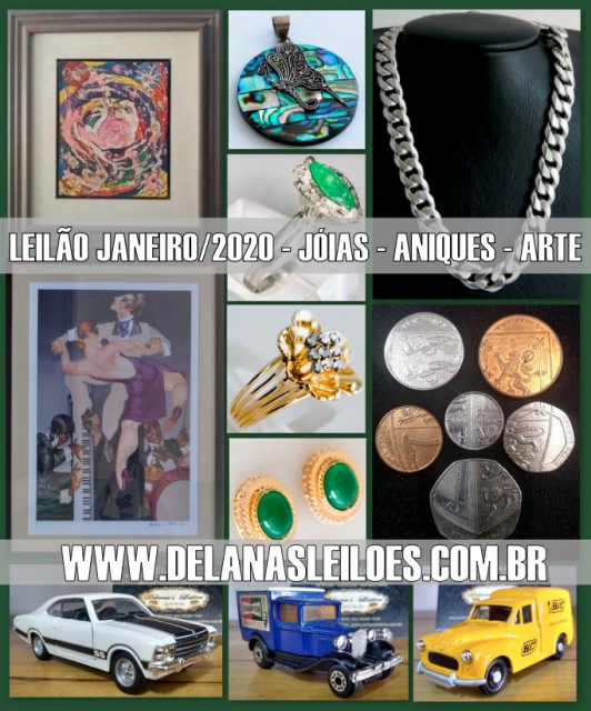 BRASÍLIA - DF | DELANAS | JÓIAS, ARTE, ANTIQUES E COLECIONISMO EM GERAL