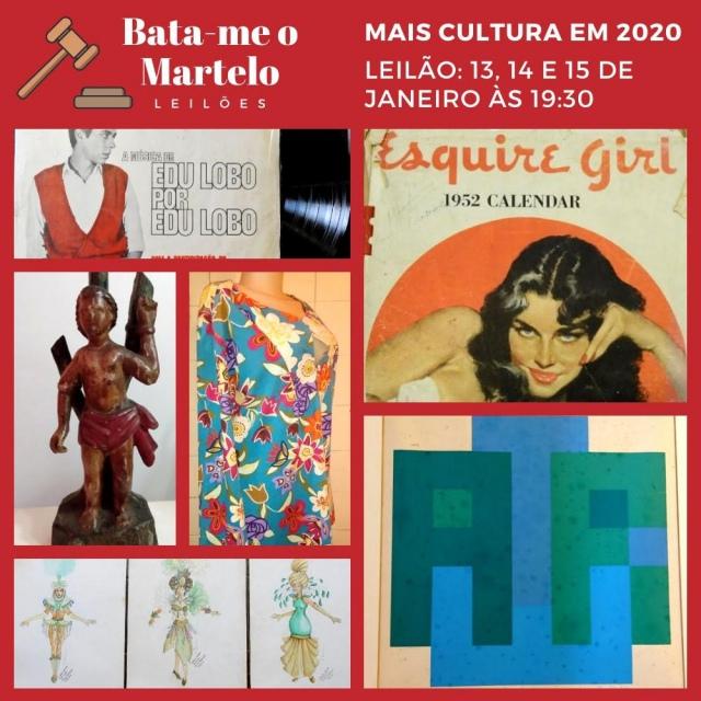 BATE O SINO NO LEILÃO BATA-ME O MARTELO - MAIS CULTURA EM 2020