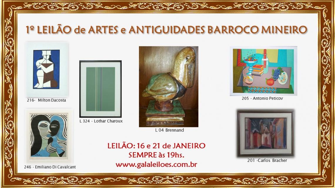 1º LEILÃO DE ARTES E ANTIGUIDADES BARROCO MINEIRO