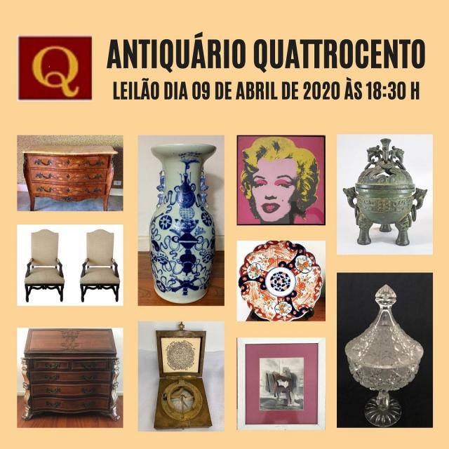 LEILÃO ANTIQUÁRIO QUATTROCENTO DE ARTE E ANTIGUIDADES