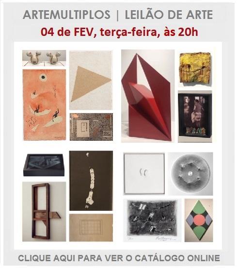 LEILÃO DE ARTE - 04 de FEVEREIRO de 2020 às 20h