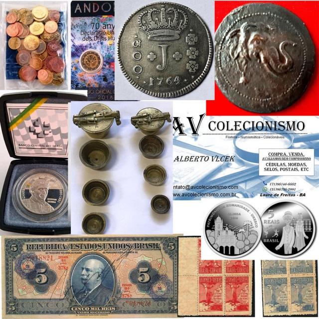 26º Leilão - AVCO - Filatelia  - Numismática - Colecionáveis