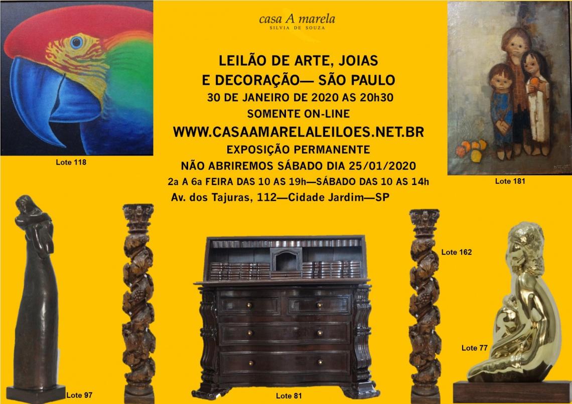 LEILÃO DE ARTE, JOIAS E DECORAÇÃO - SÃO PAULO