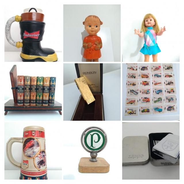 Leilão de Brinquedos e Itens Colecionáveis (Figurinhas, Isqueiros, canecas etc)