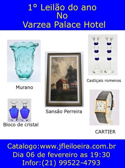 1 Leilão do ano de Artes e Antiguidades no Várzea Palace Hotel