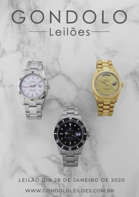 Leilão Gondolo - Relógios - Canetas - Alta relojoaria - Janeiro 2020