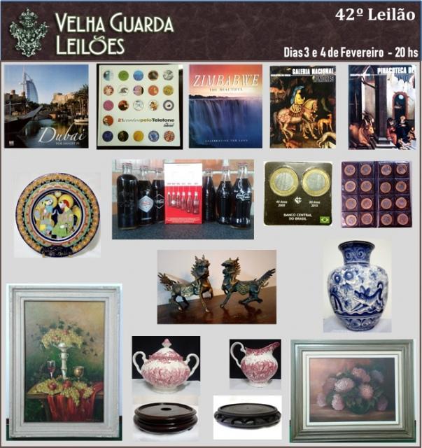 42º LEILÃO VELHA GUARDA LEILÕES - Arte, Antiguidades, Decorações e Colecionismo.