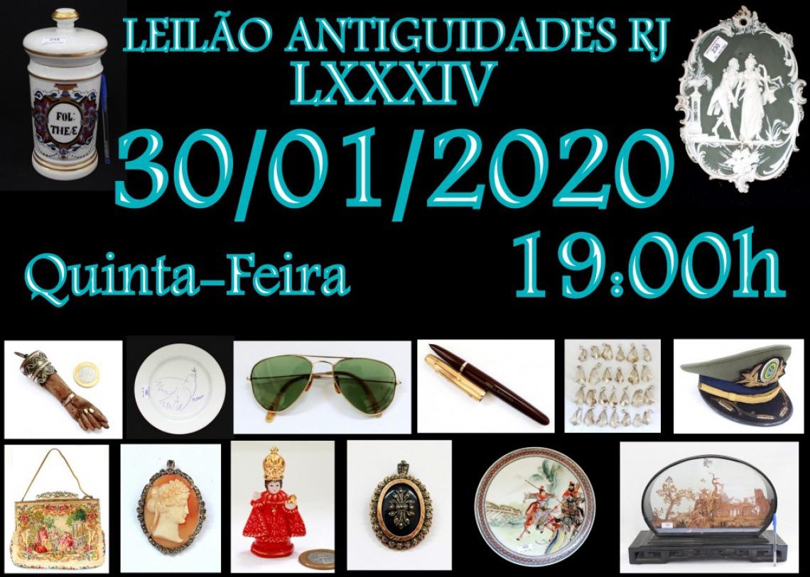 LEILÃO ANTIGUIDADES RJ LXXXIV