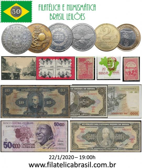 LII LEILÃO DE COLECIONISMO FILATÉLICA E NUMISMÁTICA BRASIL