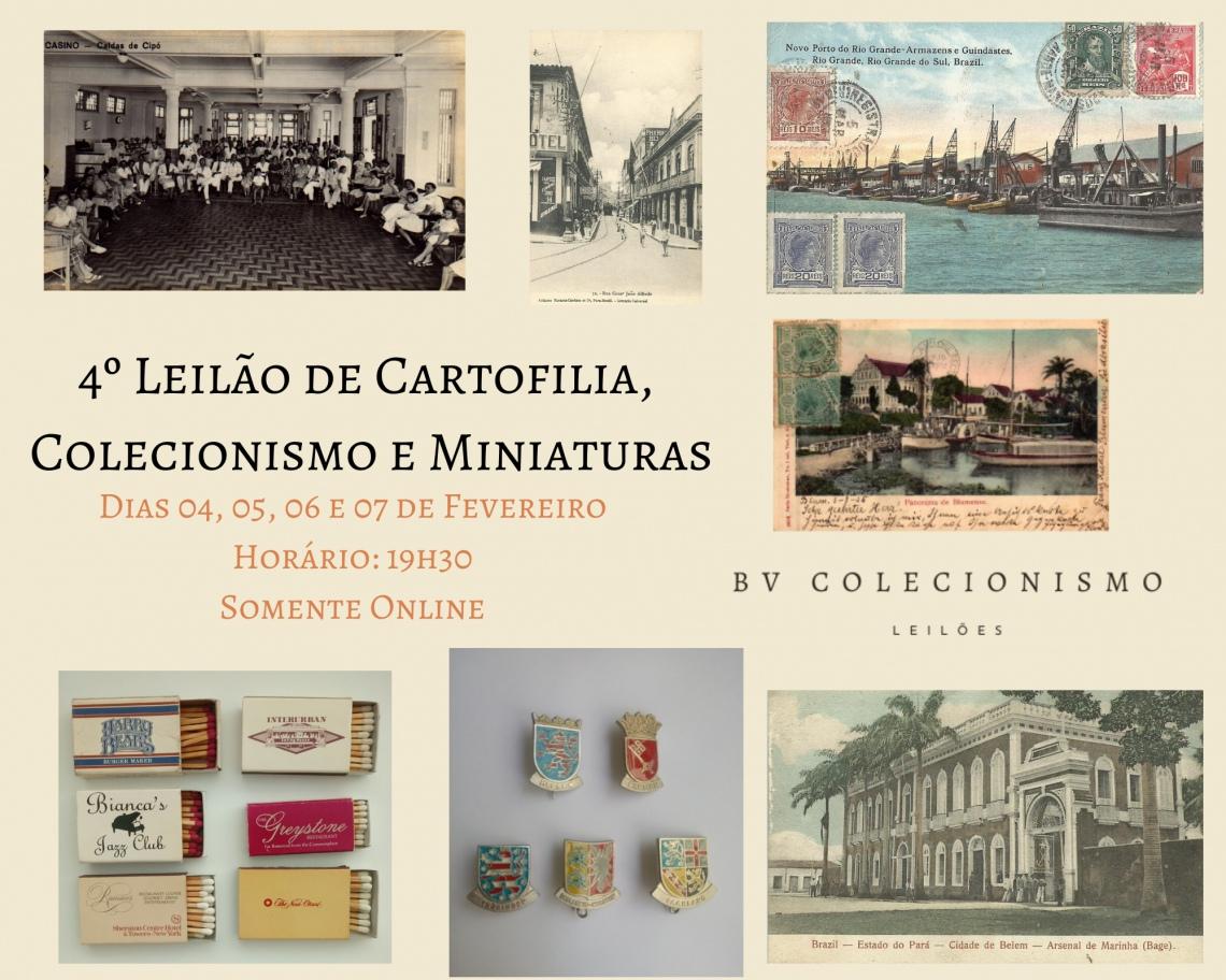 4o. Leilão de Cartofilia, Colecionismo e Miniaturas