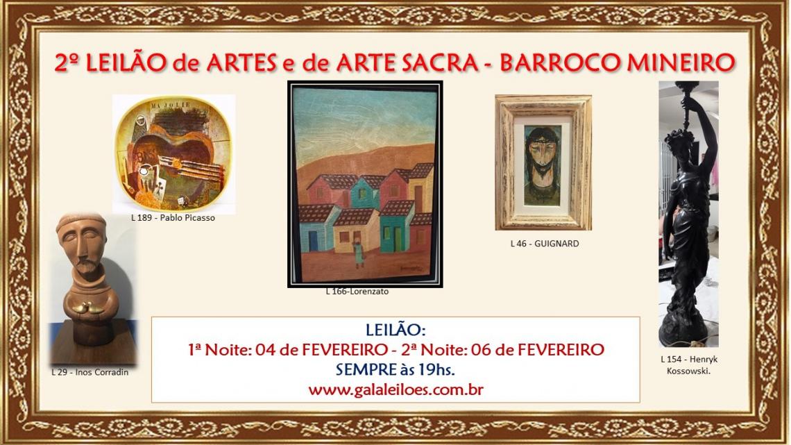 2º LEILÃO DE ARTES E DE ARTE SACRA - BARROCO MINEIRO
