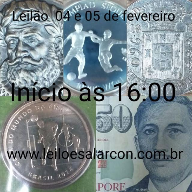 LEILÃO DE CÉDULAS E MOEDAS - FAMÍLIA BERNARDES