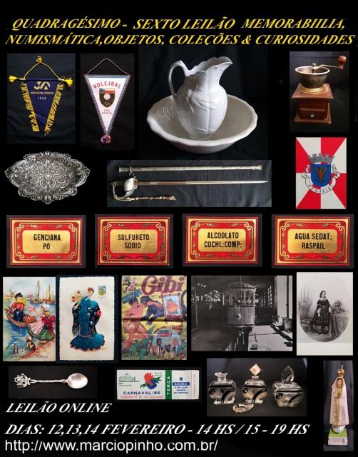 Quadragésimo Sexto Leilão Memorabilia, Numismática, Objetos, Coleções e Curiosidades