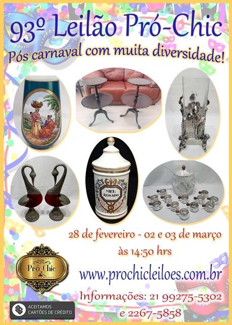 93 LEILÃO Pro Chic-Pos Carnaval com muita diversidade!