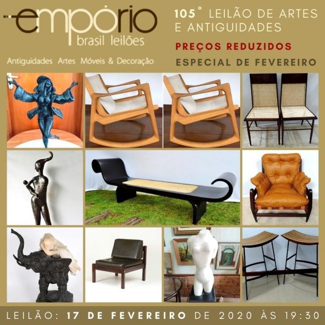 105º Leilão de Artes & Antiguidades -  Especial de Lotes remanescentes com preços reduzidos!!!!!