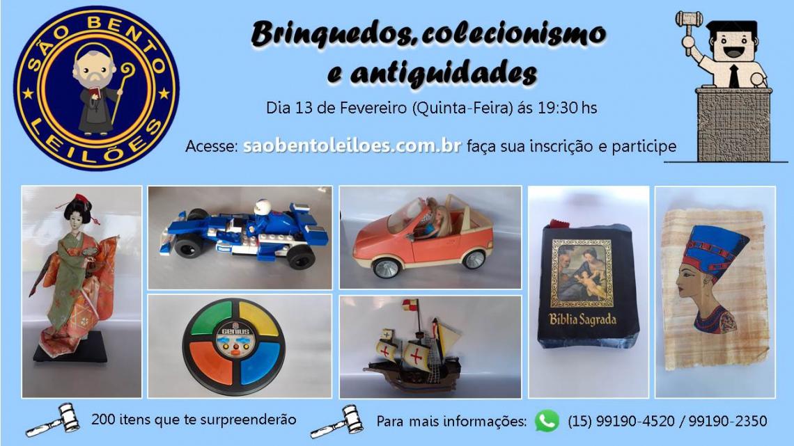 Leilão de Brinquedos, Colecionismo e Antiguidades
