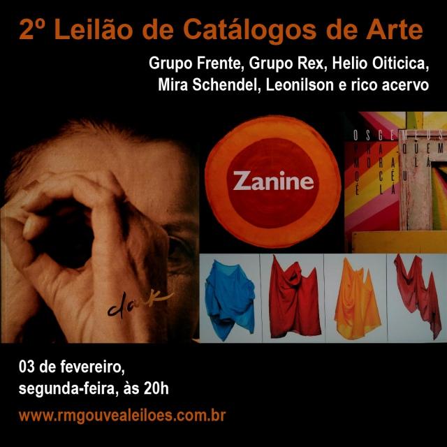 2º. LEILÃO DE CATÁLOGOS DE ARTE - 03/02/2020 às 20h00