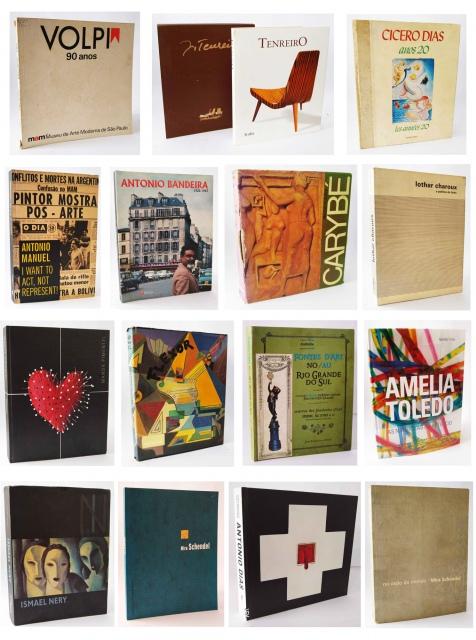 LEILÃO DE BIBLIOTECA DE ARTE BRASILEIRA CONTEMPORÂNEA, MODERNA, NAIF E CATÁLOGOS RAROS.