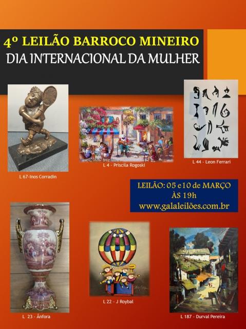 3º LEILÃO DE ARTES BARROCO MINEIRO- CASA COM ARTES!
