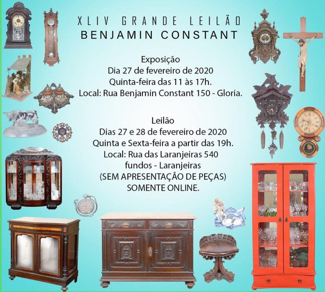 XLIV GRANDE LEILÃO BENJAMIN CONSTANT