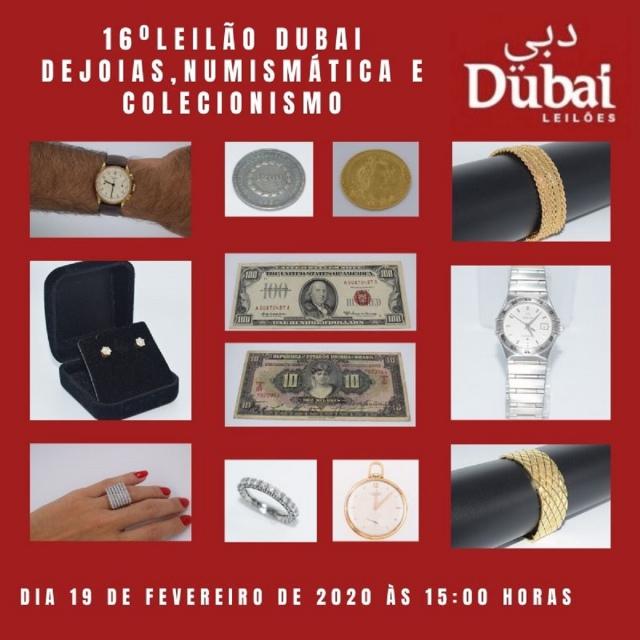 16º LEILÃO DUBAI DE JOIAS, NUMISMÁTICA E COLECIONISMO.