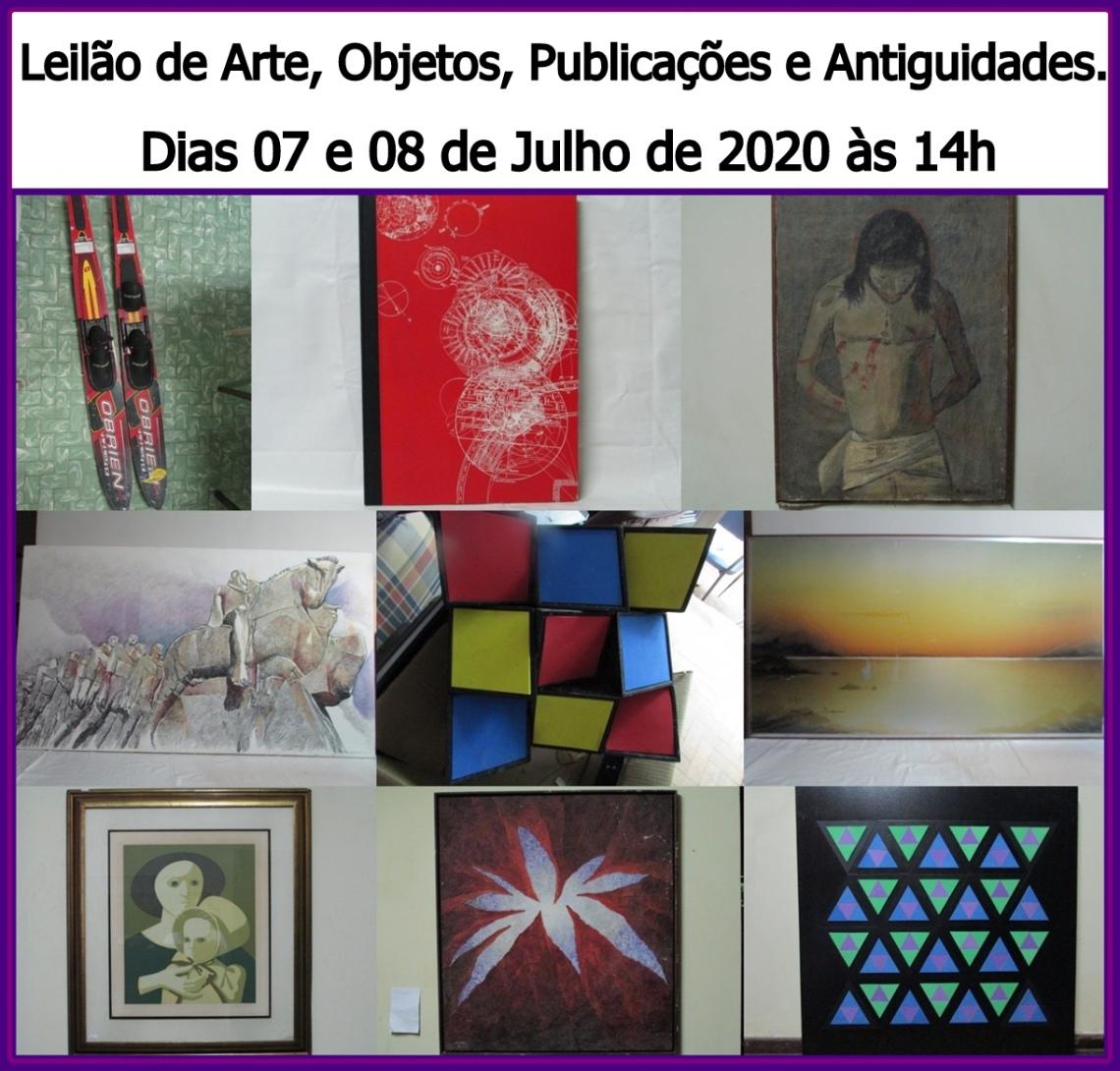 LEILÃO DE ARTE, OBJETOS, PUBLICAÇÕES (livros, gibis, revistas, e outras...) E ANTIGUIDADES