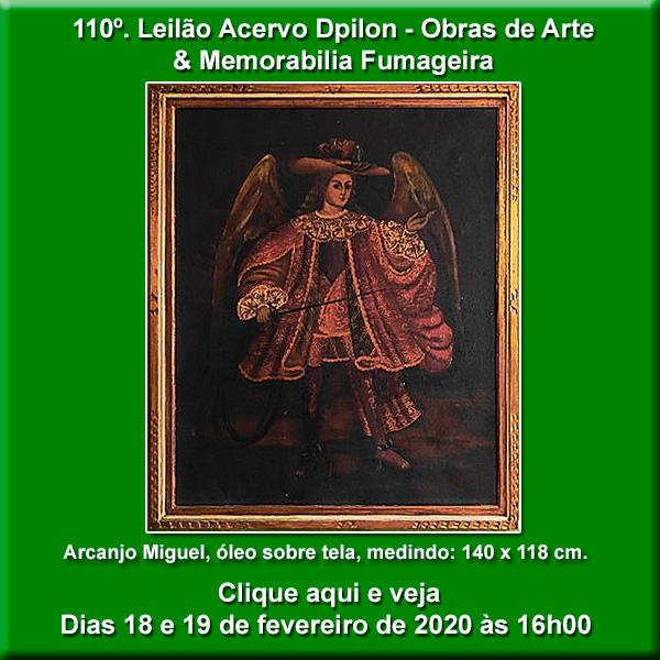 110º Leilão Acervo DPilon - Obras de Arte e Memorabilia Fumageira - 18 e 19/02/2020 - 16h00