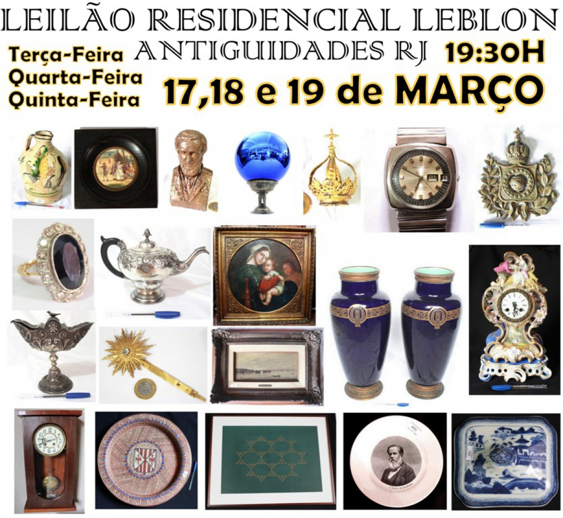 LEILÃO RESIDENCIAL LEBLON ANTIGUIDADES RJ