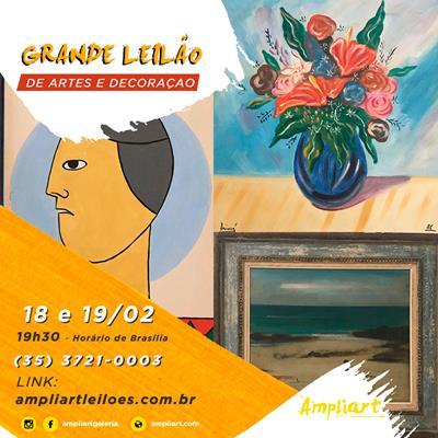 GRANDE LEILÃO DE ARTE E DECORAÇÃO