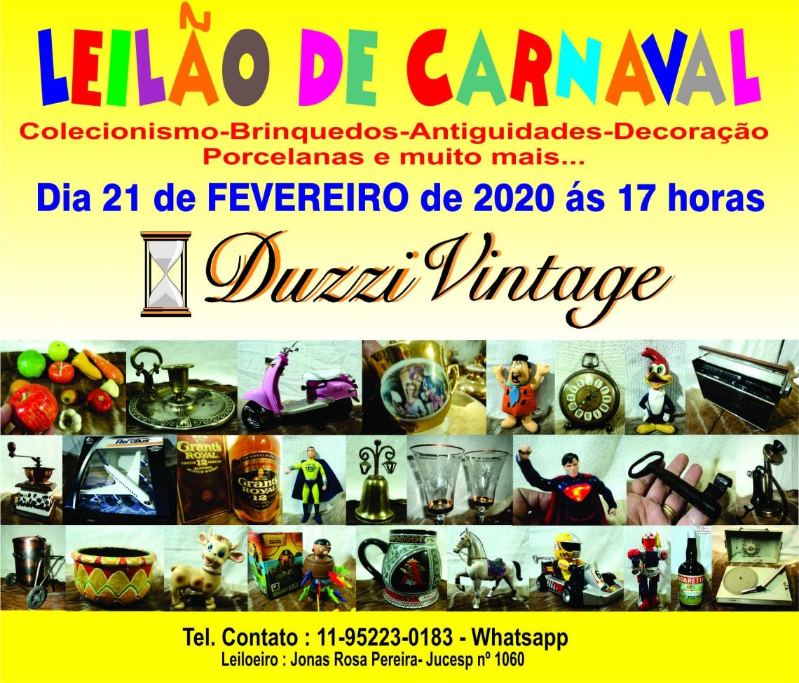 XIX LEILÃO DE CARNAVAL-DUZZIVINTAGE- Brinquedos-Colecionismo-Antiguidades e muito mais...