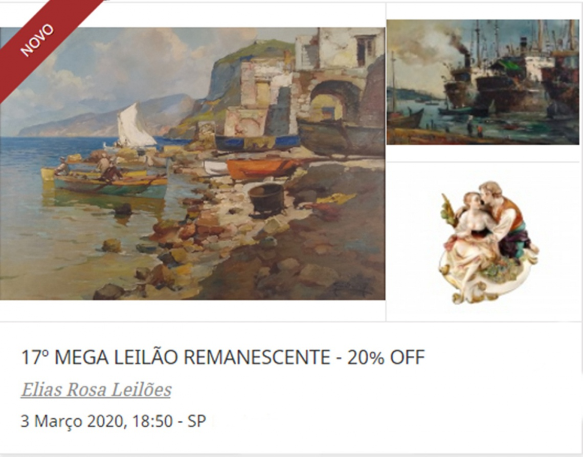 17º MEGA LEILÃO REMANESCENTE - 20% OFF