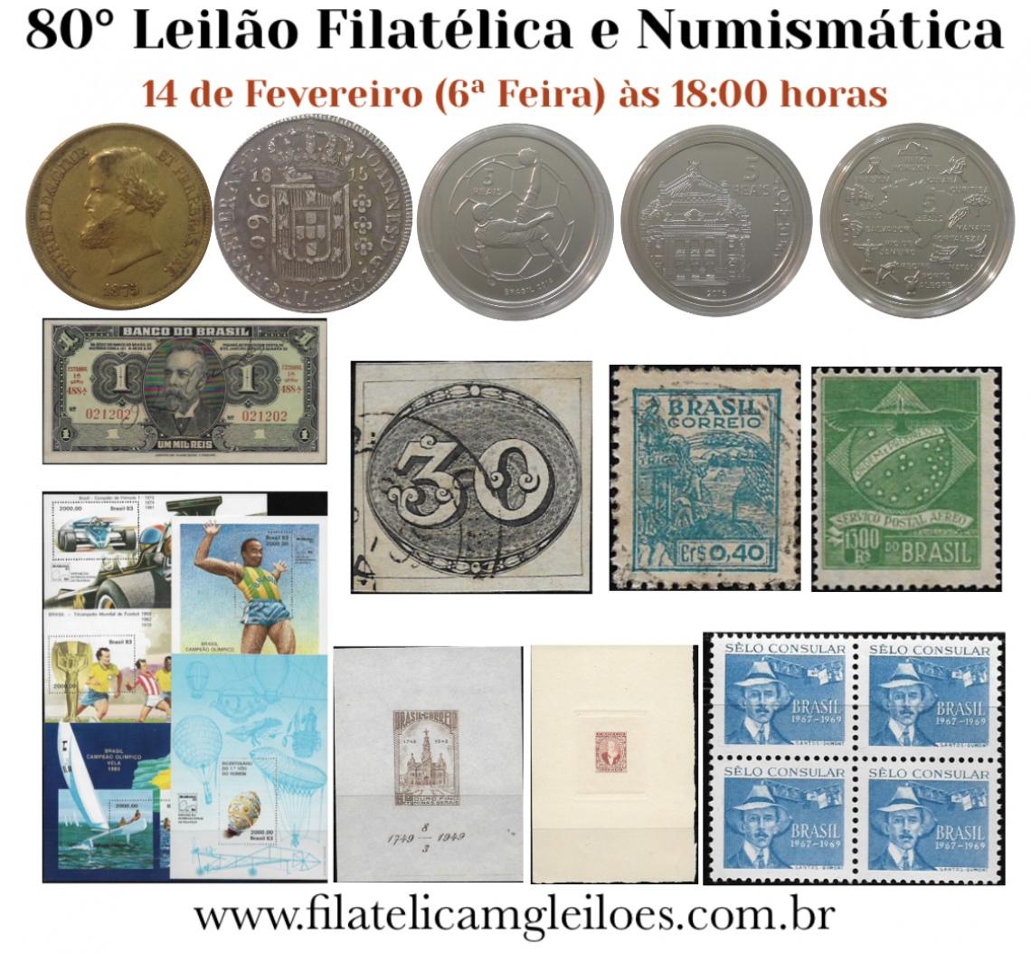 80º Leilão de Filatelia e Numismática