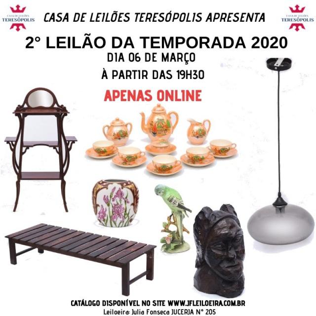 2º LEILÃO DA TEMPORADA 2020 - CASA DE LEILÕES TERESÓPOLIS