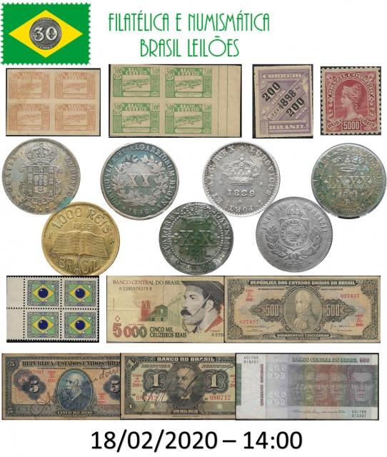 56 LEILÃO DE COLECIONISMO FILATÉLICA E NUMISMÁTICA BRASIL