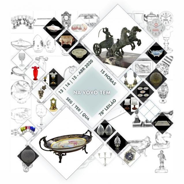 78º LEILÃO NA VOVÓ TEM - Artes, Colecionismo, Decoração, Presentes  e Móveis