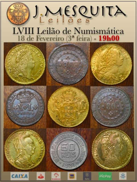 LVIII Leilão J.Mesquita - Especial de Numismática