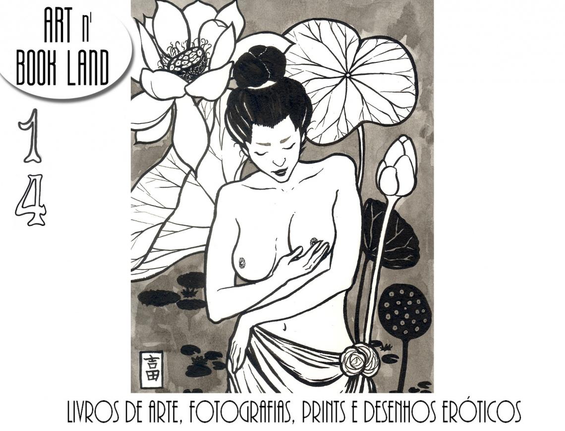 Art n Book Land 14 - leilão residencial - livros de arte, fotografias, prints e desenhos eróticos