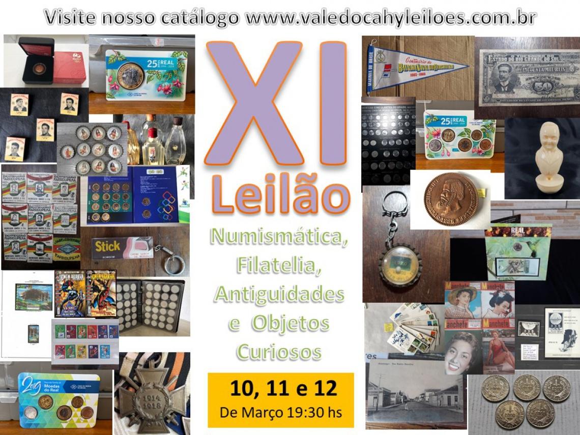 11º Leilão de Numismática, Filatelia, Antiguidades e Objetos Curiosos