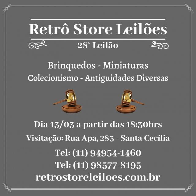 28º Leilão de Brinquedos, Miniaturas, Colecionismo e Objetos Diversos
